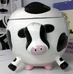 Cow cookie jar ~ cookies and milk!