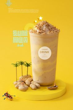 这个夏天有点黄 ~奶茶摄影 yellow summer drink tea on Behance Food Poster Design, Menu Design, Food Design, Design Design, Logos Retro, Food Quotes, Bubble Tea, Milk Tea, Desert Recipes
