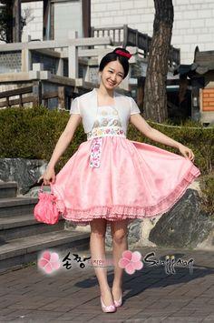 Korean Hanbok Dress (: