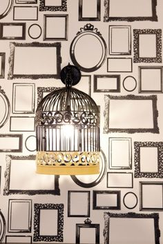The Ultimate Office: Inside Google's NYC Compound, birdcage decor in the Five Borough Café.