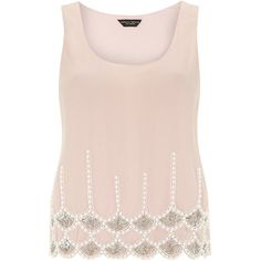 Pink embellished hem top ($59) ❤ liked on Polyvore