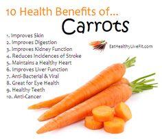 10 Health Benefits of Carrots | Eating Healthy & Living Fit - EatHealthyLiveFit.com