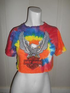 Vintage Harley Davidson tie dye   bright    by ATELIERVINTAGESHOP