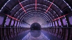 """Wow. PlayMID's Porta Estel·lar is a trully stunning visual light show inside an old airplane fuselage. It mimics the concept of interstellar travel, """"from departure and takeoff to the sighting of comets, planets, galaxies and alien worlds, until finally returning safe to earth."""" Watch it, it's a total trip (in every sense of the word)."""