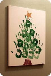 It's already december - spend some time with kids making such christmas crafts. 10 Handprint Christmas Crafts for Kids Handprint Christmas Tree, Noel Christmas, Christmas Gifts For Kids, Christmas Projects, Holiday Fun, Tree Handprint, Family Christmas, Christmas Ideas, Christmas Canvas