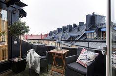 black wall, furniture, roof