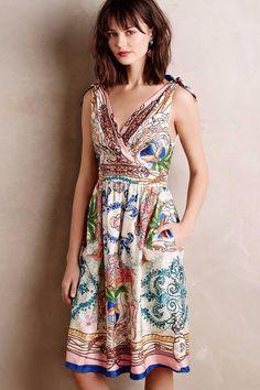 NWT Anthropologie Tied Acionna Silk Dress by Collette Dinnigan, 2, 4, 6 | eBay