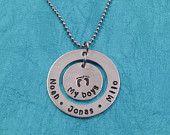 Hand Stamped Jewlery - Necklace with Tree Charm - Personalized Jewelry. $22.00, via Etsy.