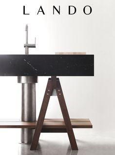 image: Dolmen kitchen, black marquinia marble, by Lando