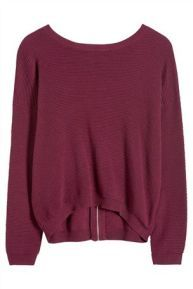 Berry Ripple Embroidered Sweater