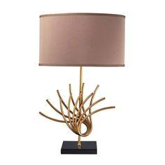 Sandhill Table Lamp In Gold Leaf - D2136