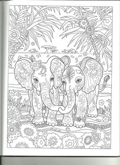 Adult Coloring Pages Colouring Fun Time Pewter Elephants Pintura Tin Metal