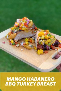 Show your grill some love with Phil Mackenzie's Mango Habanero BBQ Grilled Turkey Breast. Bbq Turkey, Grilled Turkey, Healthy Dishes, Healthy Meals, Healthy Recipes, Bbq Grill, Grilling, Turkey Breast, What To Cook