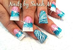 The flare nails are gross! Buy love the design! Acrylic Nail Designs, Nail Art Designs, Nails Design, Acrylic Nails, Acrylics, Duck Feet Nails, Flare Nails, Hot Nails, Creative Nails