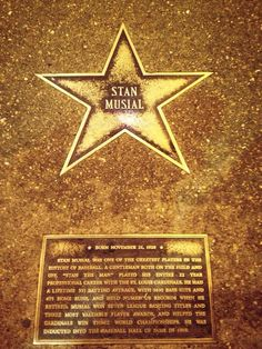 Stan's star at the Delmar Loop Walk of Fame in St. Louis.