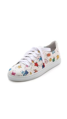 {Twins for Peace Alex Low Top Sneakers} - features Mr. Men & Little Miss characters! Super, super cute!