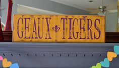 Geaux Tigers LSU custom wood sign wall art home by CSSDesign, $40.00
