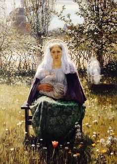 The Blessed Mother, George Hitchcock-Blessed 1892