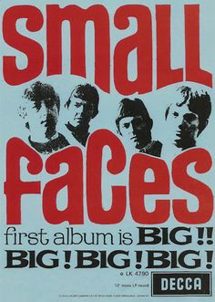 SMALL FACES POSTER. Mod, 60's pop,   | eBay
