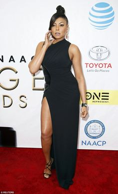 Head-turner:Taraji P Henson certainly looked like a winner as she sashayed down the red carpet at the NAACP Image awards on Saturday