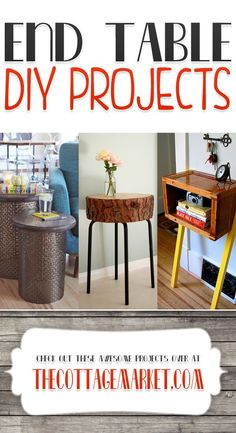 End Table DIY Projects...something for every skill level and every home decor style! You will love this collection of End Table DIY Projects!