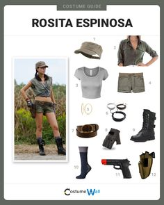 The best guide for cosplay the military look of Rosita Espinosa, the no-nonsense survivor from in the AMC horror series, The Walking Dead.