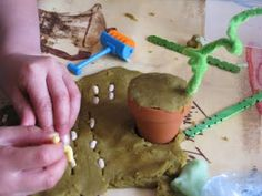 As part of our Jack and the Beanstalk Growing topic , I made a batch of play dou… - Modern Fairy Tale Crafts, Fairy Tale Theme, Fairy Tales, Eyfs Activities, Nursery Activities, Traditional Tales, Traditional Stories, Eyfs Jack And The Beanstalk, Jack B