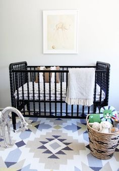 Tribal or Aztec nursery for a boy