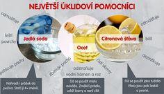 Se třemi ingrediencemi a vodou zvládnete celý úklid.