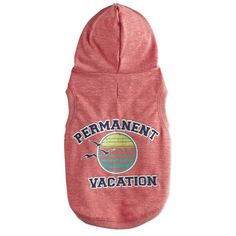 Bond+&+Co.+Permanent+Vacation+Dog+Hoodie+-+Dress+your+pup+in+the+Bond+&+Co.+Permanent+Vacation+Dog+Hoodie+to+display+your+pet's+carefree+personality.+This+hoodie+for+dog's+calming+sunset+logo,+relaxed+character+detail+and+generous+leg+and+neck+openings+exude+an+easy-going+attitude. - http://www.petco.com/shop/en/petcostore/product/bond-and-co-permanent-vacation-dog-hoodie