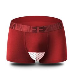 Breathable Sexy Ice Silk Underwear Mesh U Convex Pounch Boxers For Men