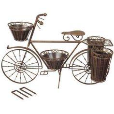 Bronze Bicycle Planter.