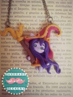 Collar de Lulu (LOL) hecho en Fimo/ Lulu (League of Legends) necklace made in polymer clay.