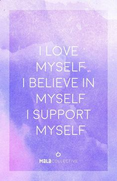 Positive affirmations for getting over anxiety. Law of attraction. Self love and self trust.