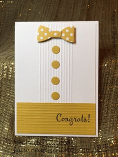 Michelle Zanotti ~ Stampin' Up! Demonstrator UK - Let's use the Leftovers - Card #11 - Stampin' Up! Retiring 2014-2016 In-Colours | Masculine| Bow Builder | Designer Series Papers | Simply Scored | Happy Happenings | Congratulations | Congrats