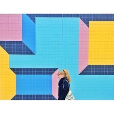 Trending SS14 - brightly coloured wall #ootd #thedailydagny #teklan Cubism, Wall Colors, Bright Colors, Instagram Posts, Artist, Artwork, Inspiration, Fun Stuff, Ootd