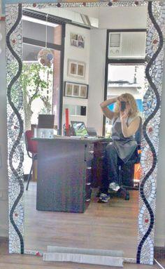 espejo de diseño con venecitas