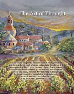 """""""The art of Thought"""": my book of art and quotes to live by  from my mother Gene Dennis"""