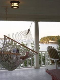 Wrap around porch with hammock. Yes please