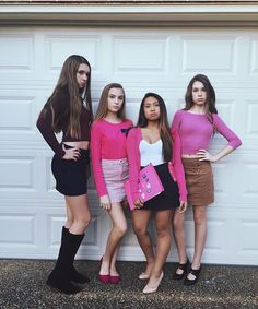 Mean Girls Group Teen Halloween Costume Easy Quick Fun Cute