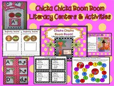 """Fun activities and center ideas when reading the book """"Chicka Chicka Boom Boom""""! $"""