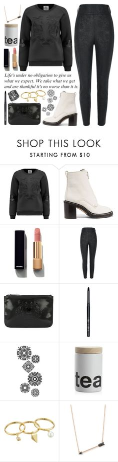 """""""ART ~90"""" by courageousmind ❤ liked on Polyvore featuring Zoe Karssen, rag & bone, Chanel, River Island, Kenzo, Bobbi Brown Cosmetics, jcp, Crate and Barrel, Rebecca Minkoff and Sydney Evan"""
