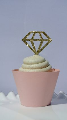 DIAMOND CUPCAKE TOPPERS  Bachelorette Party by MagnoliaOlive