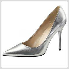 Damenpumps, Damen, Silber (silber), Größe 36 - Damen pumps (*Partner-Link)