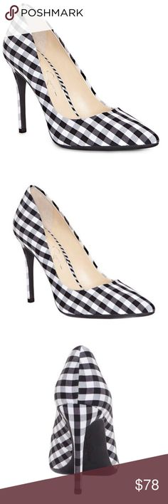 1eb9d443d4f Jessica Simpson Praylee Gingham Pointy Toe Pumps The chic and classic Jessica  Simpson Praylee Pump features