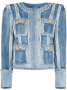 Check out Balmain with over 4 items in stock. Shop Balmain patchwork denim jacket today with fast Australia delivery and free returns. Bleached Denim Jacket, Painted Denim Jacket, Oversized Denim Jacket, Patchwork Denim, Designer Denim Jacket, Denim Bomber Jacket, Denim Jackets, Gucci Denim, Balmain Jacket