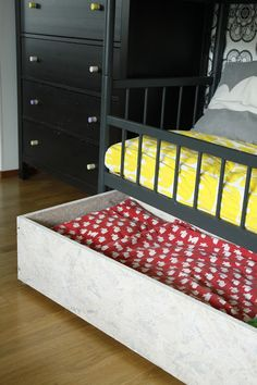 A bed under another bed. Bunk Beds, My Photos, Kids Room, Toddler Bed, Diy, Furniture, Home Decor, Child Bed, Room Kids