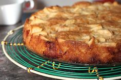 French Apple Cake recipe - Adapted from Around My French Table by Dorie Greenspan {only used 1/3 cup white & 1/3 cup dark brown sugar and subbed equal parts Kahlua & Grand Marnier for the rum.}