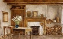 Early American is a limited edition offset lithograph of a watercolor by David Armstrong. Image size is 16 x Printed on acid free cotton rag paper. David Armstrong, English Decor, Cottage Art, Displaying Collections, Early American, Room Paint, Old Pictures, Home Art, Sculpture Art