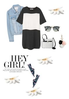 """""""Untitled #645"""" by m-jelic ❤ liked on Polyvore featuring MANGO, Sperry, Nine West, Ray-Ban and GUESS"""